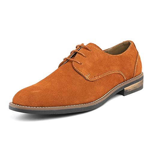Bruno Marc Men's URBAN-08 Camel Suede Leather Lace Up Oxfords Shoes - 11 M US ()