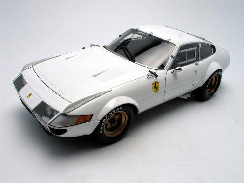Ferrari 365 GTB4 White Competizione 1:18 Kyosho Diecast Car - Ferrari Race