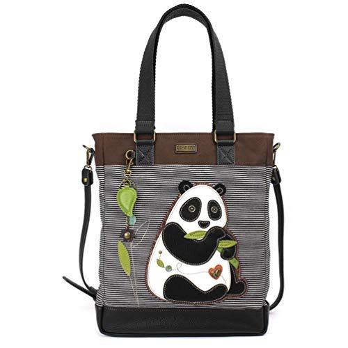 (Chala Striped Work Tote (Panda Black Stripe))