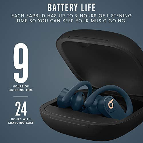 Powerbeats Pro Wireless Earphones - Apple H1 Headphone Chip, Class 1 Bluetooth, 9 Hours Of Listening Time, Sweat Resistant Earbuds - Navy