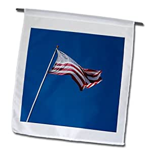 Jos Fauxtographee Realistic - An American Flag Flying High in Pine Valley Utah - 12 x 18 inch Garden Flag (fl_59415_1)