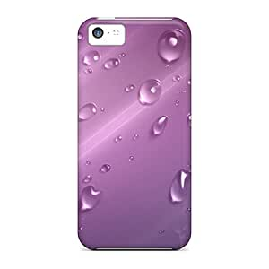 Protection Case For Iphone 5c / Case Cover For Iphone(purple Drops)