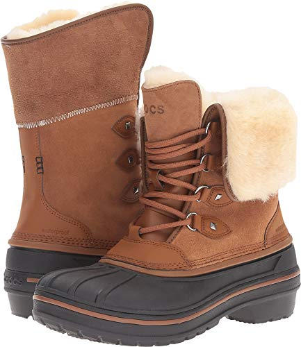 crocs Women's AllCast II Luxe  Snow Boot, Wheat, 11 M US ()