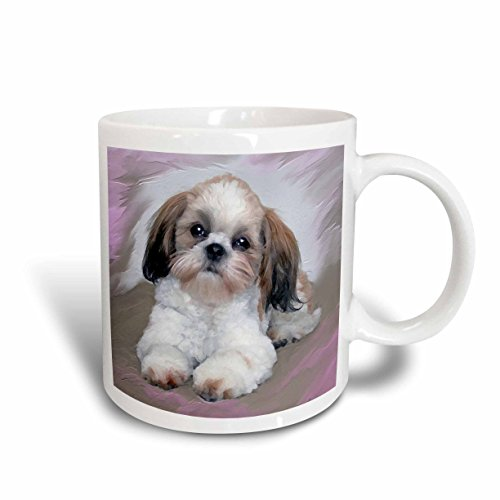 3dRose mug 4807 5 Shih Puppy White