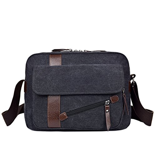 Messenger Business Travel Black Bag purpose Laidaye Canvas Leisure Backpack Multi 5w0nt