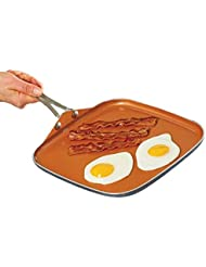 "Gotham Steel Nonstick Pan – 10.5"" Griddle Perfect for making Eggs, Pancakes, Bacon and More – Coated with Ceramic and Titanium, Brown"