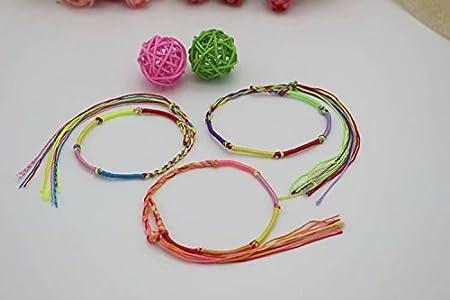 10 X Hippie Style Colorful Braided Friendship Bracelets Thread Wrist