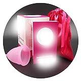 50pcs /lot The Menstrual Cup Coupe menstruelle Feminine Hygiene Product Cup Menstrual Cups copo Menstrual de Silicone,Pink,Small