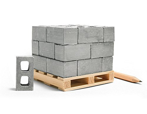 Mini Materials Miniature Cinder Blocks with Pallet 24 Blocks