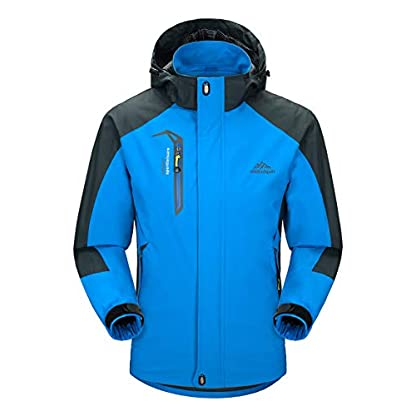 YSENTO Mens Lightweight Waterproof Jacket Windproof Outdoor Camping Hiking Mountain Jacket Coat with Hood 1