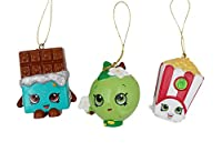 Shopkins Apple Blossom Cheeky Chocolate and Poppy Corn Ornaments 3 Assorted