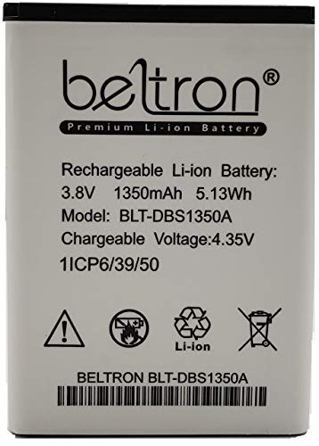 Dbs Phone - New 1350 mAh DBS-1350A BELTRON Replacement Battery for Consumer Cellular Doro 7050 Flip Phone (Renewed)