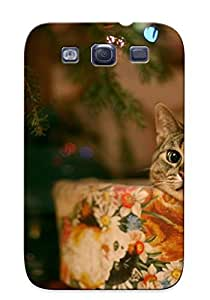 Illumineizl New Arrival Galaxy S3 Case Cat Under Christmas Tree Case Cover/ Perfect Design