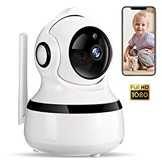 WiFi IP 1080P Camera, COOCHEER Motion Detection with Instant Alarm, Sound Detection Security Wireless Camera, Two-Way Audio, Night Vision, Baby Remote Surveillance Monitor with MicroSD Slot and Cloud