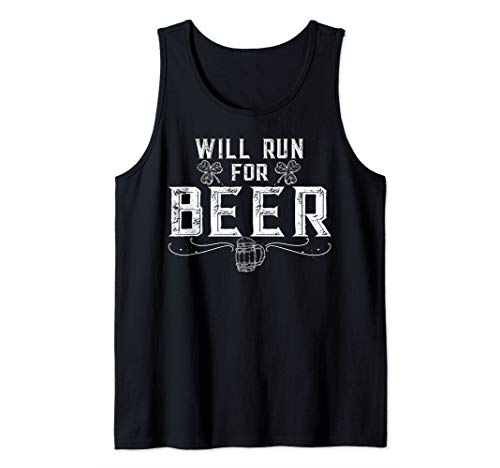 National Beer's Day Shirt Will Run For Beer Running Shirt Tank Top