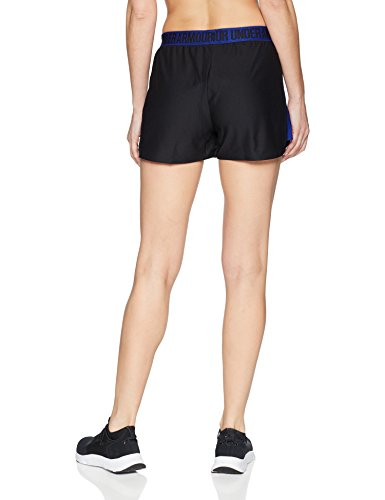 Under Armour Women's Play Up Shorts 2.0, Black (014)/Formation Blue, X-Small by Under Armour (Image #2)