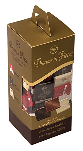 Elit - Dreams in Pieces Assorted Chocolate Selection - mini square individually wrapped Dark, Milk and White Chocolate ()