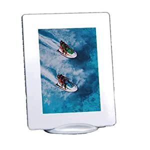 """Pictronic Illuminated Flat Screen Photo Frame for a 5x7"""" Picture, Metallic Plastic"""