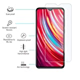 [3-Pack] WRJ Screen Protector for Xiaomi Redmi Note 8 Pro (6.53 Inch),HD Anti-Scratch Anti-Fingerprint No-Bubble 9H Hardness Tempered Glass, Lifetime Replacement Warranty