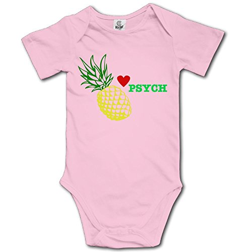 VHGJKGIN Psych Pineapple (2) Cute Baby Onesie Bodysuit -