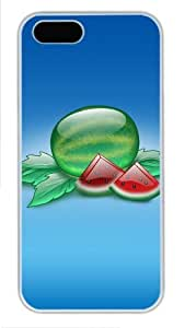 Crystal watermelon fruit amazing iphone 5S cases PC White for Apple iPhone 5/5S