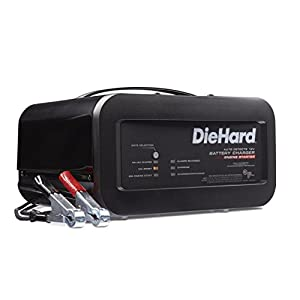 DieHard 71323 Shelf Smart Battery Charger Engine Starter (12 Volt 2 6A Charge 10A Boost 50A)