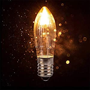 10pcs E10 Replacement Candle Light Bulbs LED Filament Candle Screw Bulb, Warm White Candle Bridge Beam Screw Fitting for…