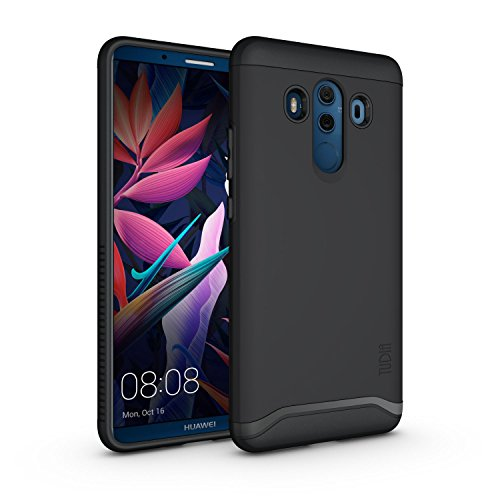 Shield Black Rubberized Case Protector (Huawei Mate 10 Pro Case, TUDIA Slim-Fit HEAVY DUTY [MERGE] EXTREME Protection/Rugged but Slim Dual Layer Case for Huawei Mate 10 Pro (Matte Black))