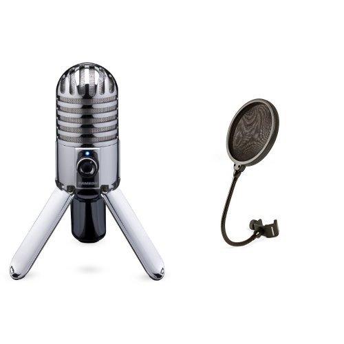 Samson Meteor Mic USB Micrófono de condensador de estudio...