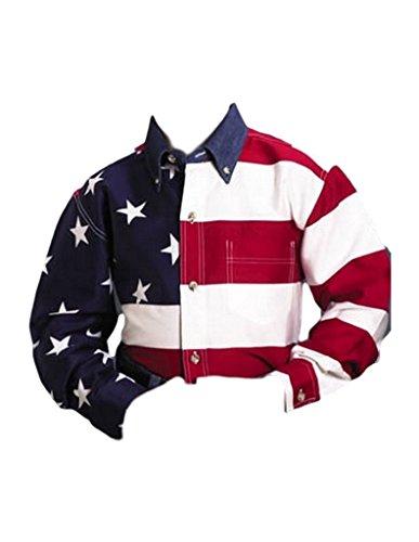 (Roper 03-030-0185-0101 Re Boys Americana Long Sleeve Shirt Red S)