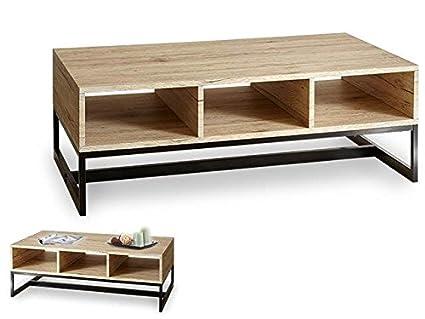 Salotto Moderno Legno : Takestop® tavolo salotto moderno 3 spazi legno con gambe telaio