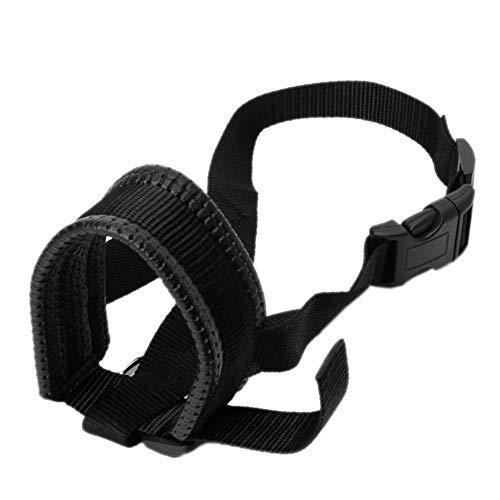 (meizhouer Soft Padded Pet Head Collar Champion Dog Training Halter Nylon Dog Muzzle Loop Stops Dog Pulling Training Tool (L))