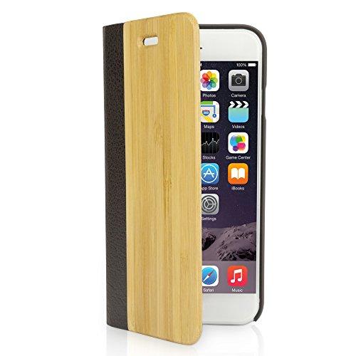 BoxWave Livret Coque arrière iPhone 6, Étui, véritable bois Bambou en bambou avec bords en plastique durable avec finition mat lisse (naturel)