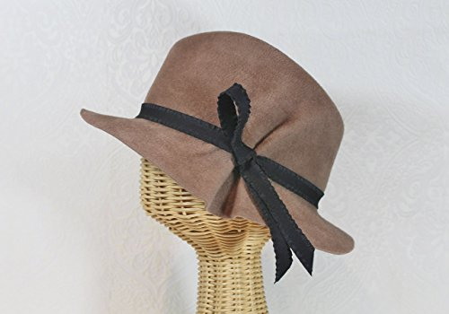 Dora Pleated Fedora in Camel Velour Felt by Bonnet