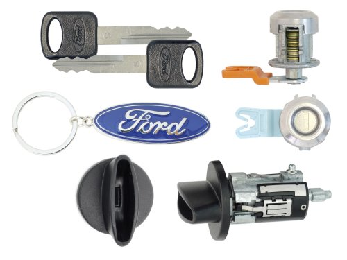Ford F250 SuperDuty 1999 Pick Up - Ignition Cylinder & 2 Door Locks w/Keys (Pickup Ignition Door Locks)