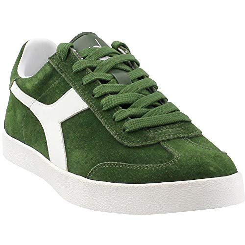 Diadora Mens Pitch Casual Sneakers, Green, 11.5 (Suede Diadora)