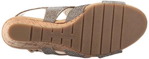 Damen Wedge Bandolino für Galedale Marine Goldglanz US Sandalette wRnAH6fxPq