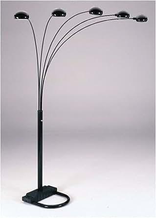 Black Five Arm Arc Floor Lamp Amazon Com
