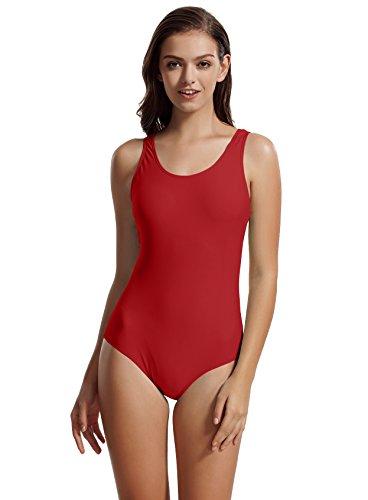 3d674298c3 zeraca Women s Retro Athletic One Piece Swimsuit Swimwear (Large   14