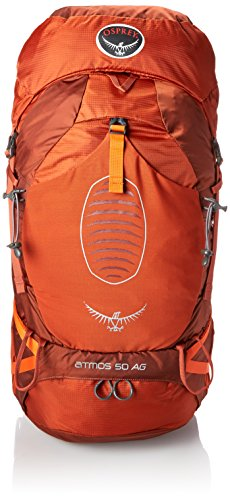 Osprey Men's Atmos AG 50 Backpack, Cinnabar Red, Medium