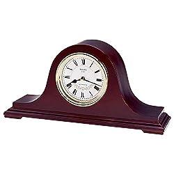 Bulova B1929 Annette II Chiming Clock, Mahogany Finish