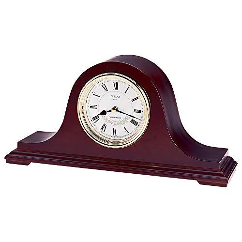 Bulova B1929 Annette II Chiming Clock, Mahogany (Mantel Clocks Chime)