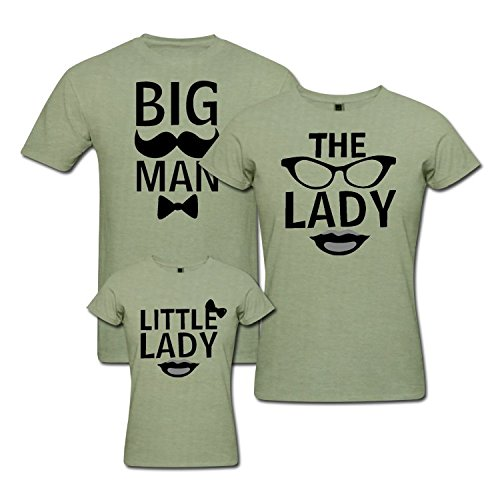 f3e6975ab pepperClub Cute Family Tshirt - Set of 3 for Mom Dad and Daughter: Amazon.in:  Clothing & Accessories