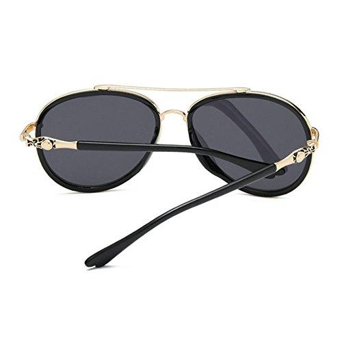 Aoligei Mâle et Polarized lunettes de soleil couleur lumineuse grandes stars lunettes de soleil lunettes noires tendance BR6X8p