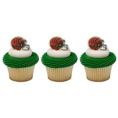 NFL Cincinnati Bengals Cupcake Helmet Rings Cake Decoration 24 -
