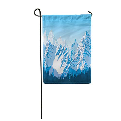 """Used, Semtomn 28""""x 40"""" Garden Flag Alps Blue Beautiful Mountains for sale  Delivered anywhere in USA"""
