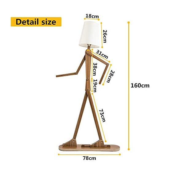 HROOME Modern Contemporary Decorative Wooden Floor Lamp Light with Fold White Fabric Shade Adjustable Height Standing Light for Living Room Bedroom Office 160cm Unique Design DIY Man Lamps (Walnut) - Trust material : The lamp body is made of plywood, firm and chemical-free. Material of the lampsade is fabric cloth, classical and elegant. Easy to use and store:The lamp is adjustable,you can adjust the angle and height as you like. With the special design, it can be stored in a small space. Features:AC 110-220V ,E26 screw socket easy to install,1.6m cord with button switch.Suitable for living room ,bedroom,office and so on . - living-room-decor, living-room, floor-lamps - 41I38GO0rzL. SS570  -