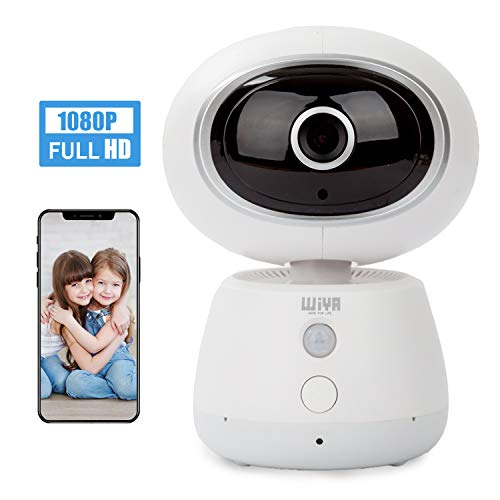 Pet Monitor Camera, WiYA Security 1080P HD 2.4G WiFi IP Wireless Home Monitor Camera, Motion Detection Night Vision Camera for Pet/Baby/Elder(White)