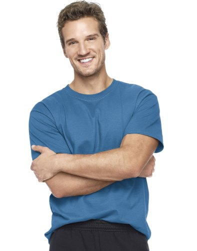 T-shirt Tee Large Denim - Hanes Beefy-T Adult Short-Sleeve T-Shirt ( Denim Blue, 3X)
