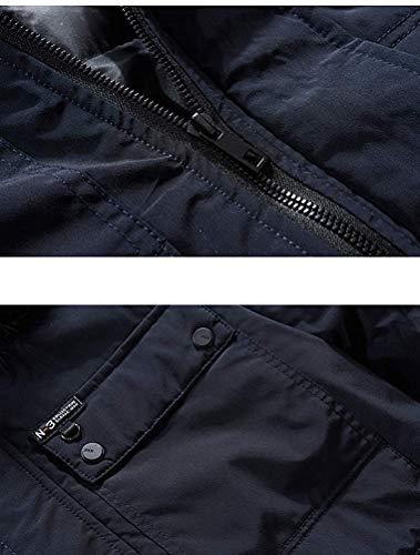 Maniche colore L Outdoor Dimensione Antivento Lunghe Uomo Da Cappuccio Invernale Navy A Cappotto Navy Fuxitoggo xqvO8TY